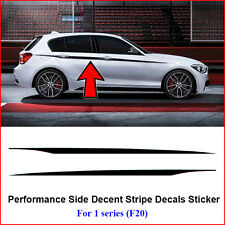 2pcs M Performance Side Door Stripes Decals Vinyl Sticker for BMW 1 Series F20