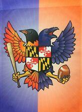 New listing Baltimore Orioles Ravens Birdland Baseball Football House Flag Banner Maryland