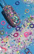 glitter mix acrylic gel nail art         RING TOSS