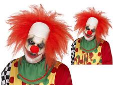 Rojo Calvo peluca de payaso disfraz Halloween hombre pelo adultos terror Smiffys