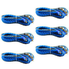 6 Pcs | 2 RCA to RCA Interconnect HiFi Audio Cable Male Connector Wire 17 Feet