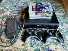 Xbox 360 Bundle 120 Gb Console Tested, 7 Games, 2 Controllers, WiFi Adap, Cables