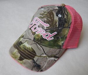 NEW Licensed Ford Motors Realtree APG Infinity Camouflage Pink Baseball Hat Cap