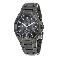 Ctizen Eco Drive Black Dial Titanium Chronograph Mens Watch CA0265-59E