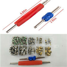 100x Auto Car Air Conditioning Tire Valve Core R134a/R12 A/C w/ 2x Remover Tools