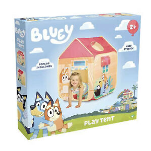 Bluey Pop 'N' Fun Play Tent Pops Up In Seconds And Easy Storage Braden New Box
