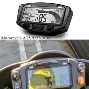 Motorcycle ATV/UTV Universal LED Speedometer LCD Digital Odometer Guage Bracket