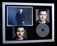 MICHAEL BUBLE+SIGNED+FRAMED+NOBODY BUT ME+MET YOU=100% GENUINE+FAST GLOBAL SHIP