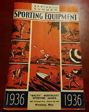RARE 2-N-1 1936 CANADIAN SPORT. GOODS CATALOG REACH,WRIGHT& DITSON