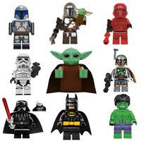 Mini figure Custom Lego Baby Yoda Mandalorian Star Wars Boba Fett Darth Vader