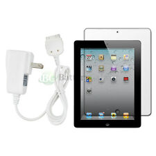 NEW HOT! Home Wall AC Charger+LCD HD Screen Protector for APPLE iPAD 2 500+SOLD