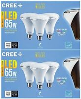 6-Cree Led 65W Replacement BR30 Soft White (2700K) Dimmable Flood Light Bulb 8w