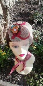 Vintage style hat hand made