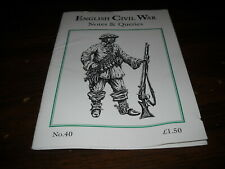English Civil War Notes and Queries Issue 40