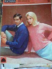 Vintage 1950s/1960s Cardigan Tejer patrón para Hombre Mujer