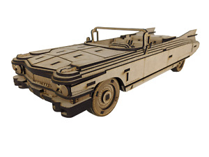 3D Wooden Puzzle, Craft Model Kit for Adults and Kids, 1959 Cadillac Eldorado