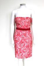 Nuevo £ 1960 Giambattista Valli floral vestido sin tirantes coral 44 Reino Unido 10 -12
