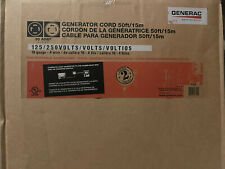 Generac 6329 50 Foot 30a Generator Power Cable Cord 30 Amp Transfer Switch 7500w