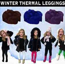 Childrens Winter Thick Thermal Leggings Girls Kids Sizes 2-14 All Colours