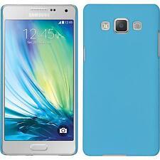 Coque Rigide Samsung Galaxy A5 (A500) - gommée bleu clair + films de protection