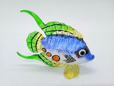 Blown Glass Hand Painted Arts Fish Figurine Blowing Statue Decor Animal Souvenir