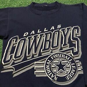 Dallas Cowboys Sweatshirt Youth Medium Boys Blue NFL Football Vintage 90s Retro