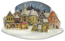 Richard Sellmer Verlag - Old German Paper Advent Calendar - 3D Moonlit Village
