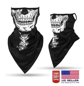 Gaiter Face Mask Skull Shield Neck Balaclava Cooling Ice Silk Cloth Adult Biker