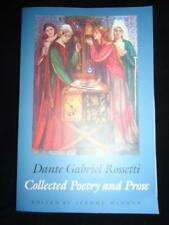 Dante Gabriel Rossetti Collected Poetry & Prose edited by Jerome McGann Yale ed.