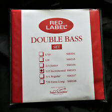 Super-Sensitive Red Label 1/2 Upright Bass Strings New, GREAT DEAL!