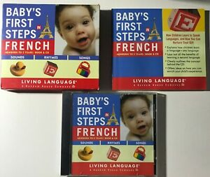 Baby's First Steps in French Living Language DISC VERY GOOD COND CDs CD Box Set