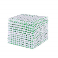 12 Pieces Dish Towel 100% Cotton Kitchen Towels Lot Set White Green Cleaning Set