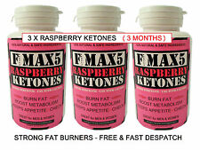 RASPBERRY KETONES FAT BURNER VERY STRONG SLIMMING WEIGHT LOSS DIET PILLS BID.96