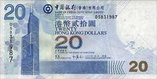 Hong Kong/Hong Kong banco de china 20 dollars 2006 pick 335c UNC