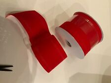 Red  Velvet  Waterproof  Holiday Ribbon Wire Edge   4 inches wide,   20 Yard