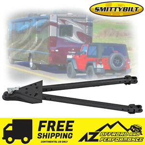 ▪Smittybilt▪ Tow Bar Kit for all Jeep Vehicles w/ D-Ring Brackets 87450 Black