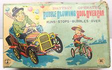 Vintage 1950's Modern Toys Boil Over Car Japan Tin Tinplate Litho Battery + Box