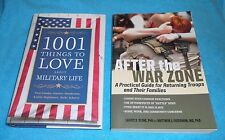 "Lot of 2 Military Family Books - ""After The War Zone"" & ""1001 Things To..."" EXC"