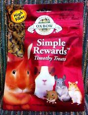 Oxbow Simple Rewards Timothy Healthy Treats Rabbit Guinea Pig Chinchilla 1.4oz