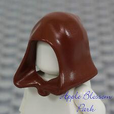 NEW Lego Minifig Reddish BROWN HOOD Kingdoms/Castle Troll/Star Wars Obi Wan Jedi