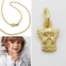 Echt Gold 585 Baby Kinder Taufe fliegender betender Mini Schutz Engel Anhänger