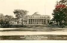 Vintage RPPC Social Religious Bldg Peabody College for Teachers Nashville TN