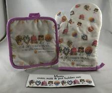 Oven Mitt Potholder Set Mother Nice Gift for Mother's Day