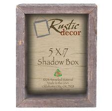 5x7 Reclaimed Rustic Barn Wood Collectible Shadow Box