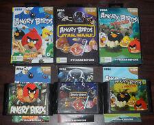 Sega Genesis. Angry Birds 1 & Star Wars & In Russia. All 3 CIB Trilogy (RUS)