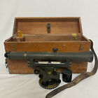 Vintage Teledyne Gurley Transit Surveyor & Wood Box Brass Troy, New York