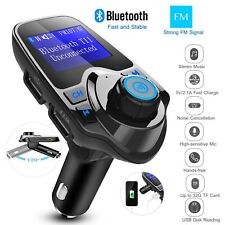 Wireless Bluetooth Car Kit Fm Transmitter Radio Mp3 Music Player & 2 Usb Charger