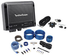 Rockford Fosgate Prime R500X1D 500 Watt RMS Mono Car Class D Amplifier+Amp Kit