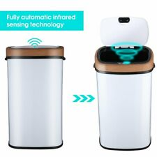 New 15-Gallon Touch Free Sensor Automatic Touchless Trash Can Kitchen Office