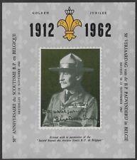 Belgium Cinderella: 1912-1962, 50th Golden Anniv of Scouting in Belgium -ow331